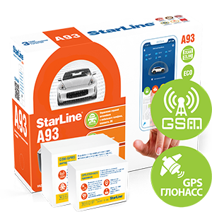 Автосигнализация StarLine A93 2CAN+2LIN GSM-GPS ECO