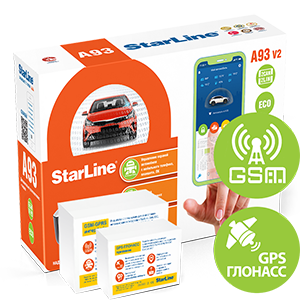 Автосигнализация StarLine A93 V2 2CAN-2LIN GSM-GPS ECO