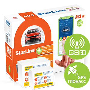 Автосигнализация StarLine A93 V2 2CAN-2LIN GSM-GPS