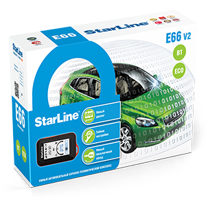 Автосигнализация StarLine E66 V2 BT 2CAN+4LIN ECO