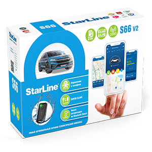 Автосигнализация StarLine S66 V2 BT 2CAN+4LIN GSM